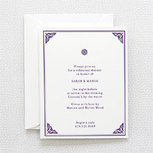 Bohemian: Letterpress Rehearsal Dinner Invitation