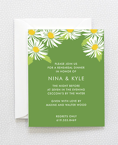 Daisy Rehearsal Dinner Invitation