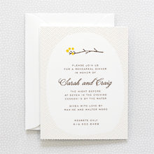 Darling Bud---Letterpress Rehearsal Dinner Invitation
