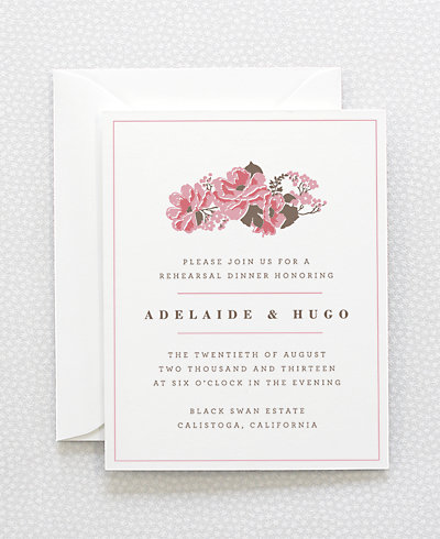 English Rose Rehearsal Dinner Invitation
