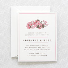 English Rose---Rehearsal Dinner Invitation