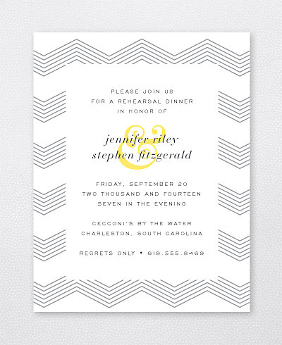 Ampersand Rehearsal Dinner Invitation
