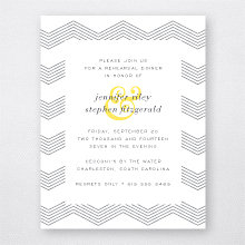 Ampersand: Letterpress Rehearsal Dinner Invitation