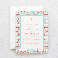 Architecture - Letterpress Rehearsal Dinner Invitation