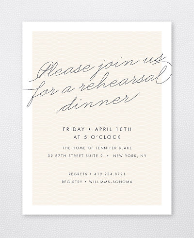 Atlantic Rehearsal Dinner Invitation