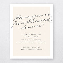 Atlantic: Rehearsal Dinner Invitation