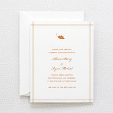 Autumn Leaves - Letterpress Rehearsal Dinner Invitation