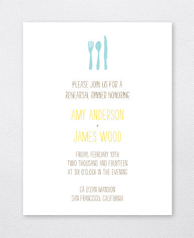 Big Day Fireworks Letterpress Rehearsal Dinner Invitation