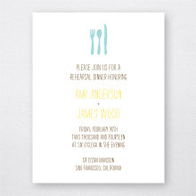 Big Day Fireworks: Letterpress Rehearsal Dinner Invitation