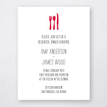 Big Day Hearts---Letterpress Rehearsal Dinner Invitation