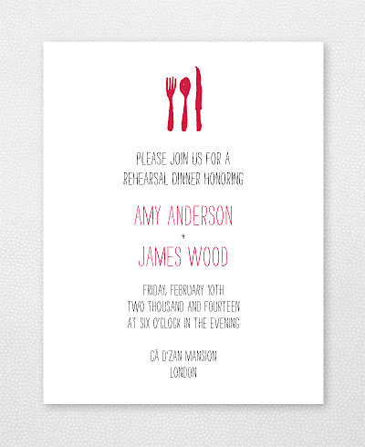 Big Day London Letterpress Rehearsal Dinner Invitation