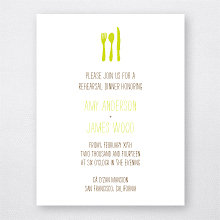 Big Day Oak: Letterpress Rehearsal Dinner Invitation