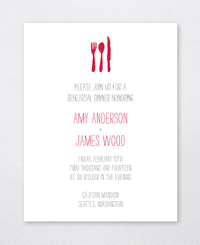 Big Day Seattle Rehearsal Dinner Invitation