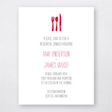 Big Day Seattle: Letterpress Rehearsal Dinner Invitation