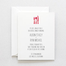 Big Day---Letterpress Rehearsal Dinner Invitation