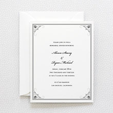 Biltmore: Letterpress Rehearsal Dinner Invitation