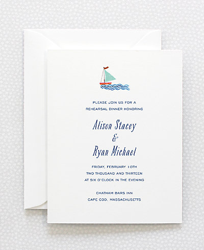 Cape Cod Rehearsal Dinner Invitation