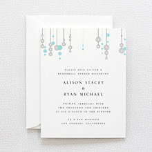 Chandelier: Letterpress Rehearsal Dinner Invitation