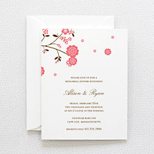 Cherry Blossom: Letterpress Rehearsal Dinner Invitation