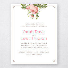 Classic Rose: Rehearsal Dinner Invitation