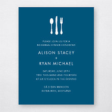 Edinburgh Skyline - Rehearsal Dinner Invitation