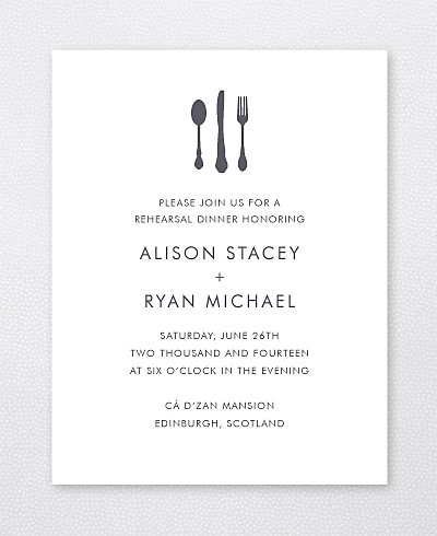Edinburgh Skyline Rehearsal Dinner Invitation