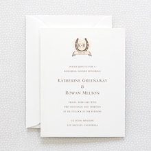 Elegant Equestrian---Rehearsal Dinner Invitation
