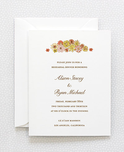 Evelyn Rehearsal Dinner Invitation