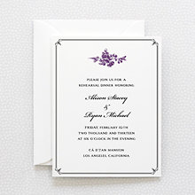 Gothic Rose: Letterpress Rehearsal Dinner Invitation