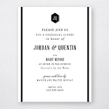 Havana - Letterpress Rehearsal Dinner Invitation