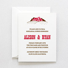 Heartland---Letterpress Rehearsal Dinner Invitation