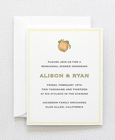 Heirloom Harvest Rehearsal Dinner Invitation
