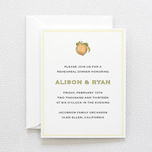 Heirloom Harvest: Rehearsal Dinner Invitation