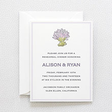 Lavender Harvest---Rehearsal Dinner Invitation