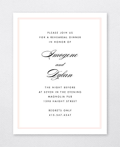 La Vie en Rose Rehearsal Dinner Invitation