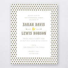 Lemonade Stand: Letterpress Rehearsal Dinner Invitation