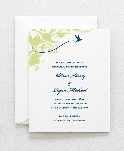 L'Oiseau Rehearsal Dinner Invitation