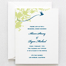 L'Oiseau - Letterpress Rehearsal Dinner Invitation