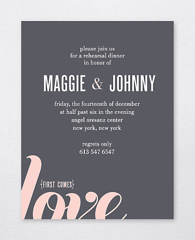 Love and Marriage Rehearsal Dinner Invitation