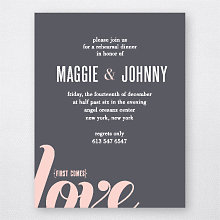 Love and Marriage: Rehearsal Dinner Invitation
