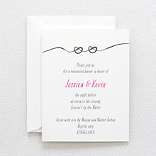 Love Knot---Letterpress Rehearsal Dinner Invitation