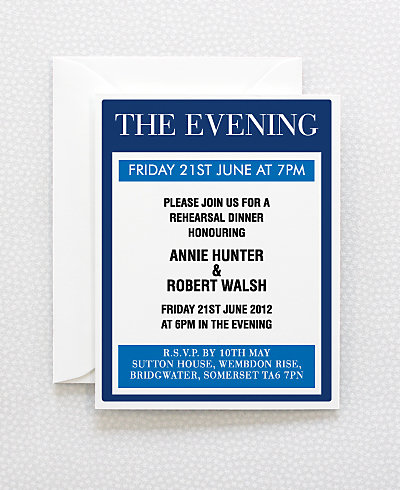 Love London Rehearsal Dinner Invitation