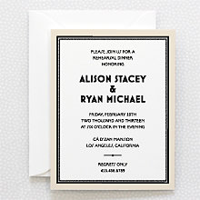 Marquee - Letterpress Rehearsal Dinner Invitation