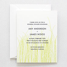 Meadow: Letterpress Rehearsal Dinner Invitation