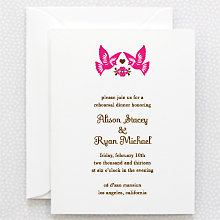 Mi Amor---Letterpress Rehearsal Dinner Invitation