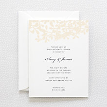 Midsummer: Letterpress Rehearsal Dinner Invitation
