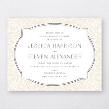 Morris: Letterpress Rehearsal Dinner Invitation
