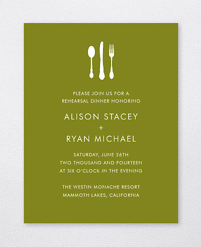 Mountain Skyline Rehearsal Dinner Invitation