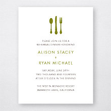 Mountain Skyline - Rehearsal Dinner Invitation
