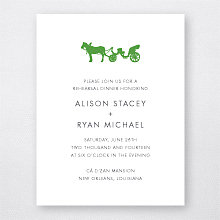 New Orleans Skyline - Rehearsal Dinner Invitation